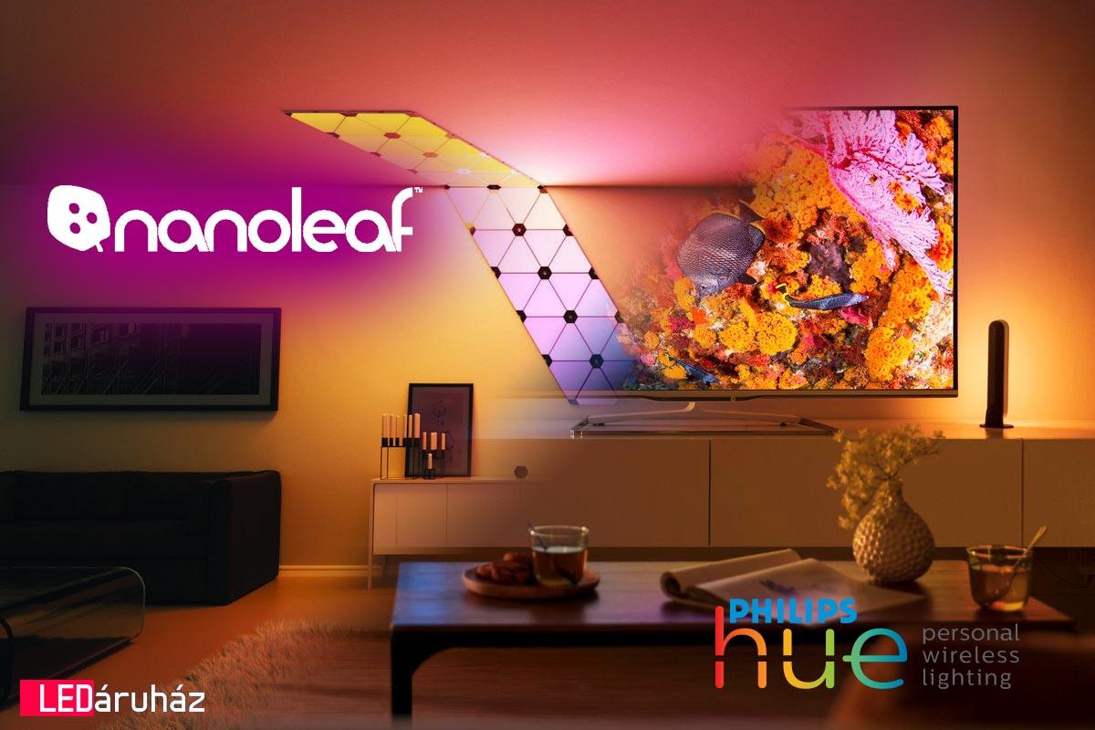 Philips Hue, Nanoleaf, Eglo Connect okos világítás - smart Lighting Ledium LED lámpa