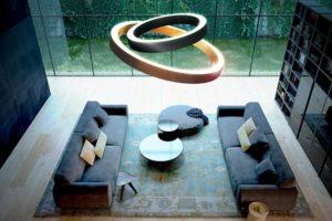 Panzeri Golden Ring Ledium Design lámpa